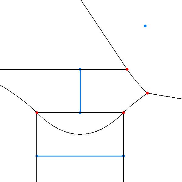 voronoi diagramRandom Linesegment Voronoi Diagram #10
